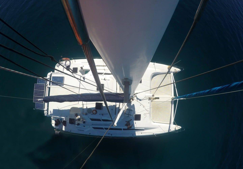 vista dall'altro del catamarano