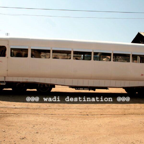 Il treno Micheline in stazione a Antananarivo
