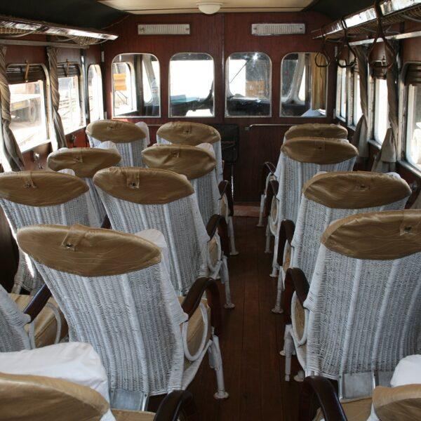 I sedili vintage del treno MIcheline