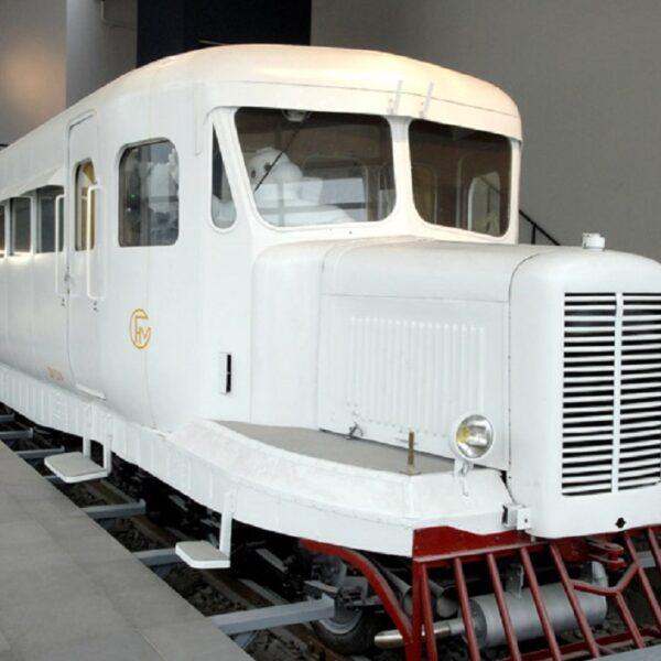 La locomotiva Micheline al museo