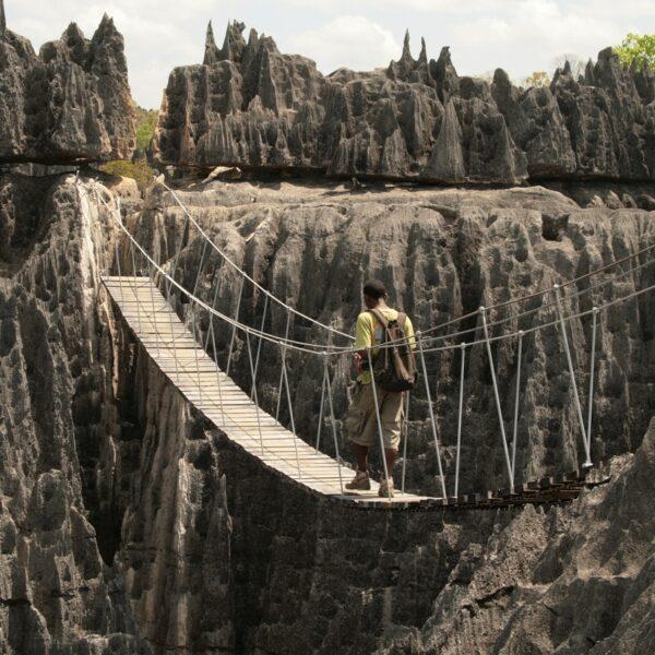 Ponte sospeso nel parco degli tsingy